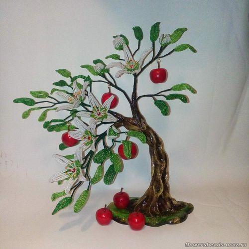 Яблочки из бисера схема